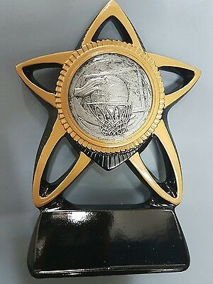 Basketball Black & Gold Resin Trophy Award 150mm FREE Engraving REDUCED TO CLEAR