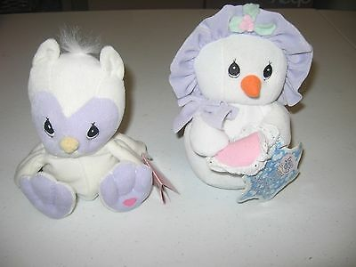 Precious Moments tender tails 1998 Owl and 2000 Snowman