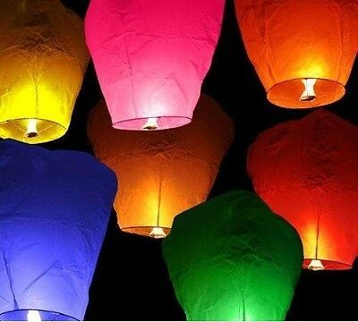 Chinese Lanterns multicoloured pack x10