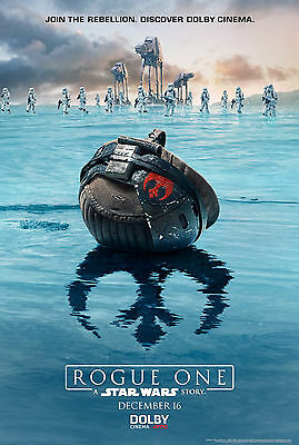 A3 - Star Wars Rogue One Dolby - MOVIE Film Cinema Home Posters Art #10