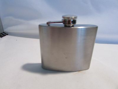 Vintage  Whiskey Hip Flask Stainless Steel From UK 5oz