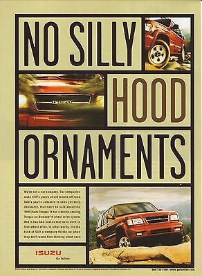 "1998 ""No Silly Hood Ornaments"" Isuzu Trooper Advertisement"