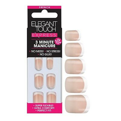 Elegant Touch Express Nails French Bare 3 Minute Manicure NEW