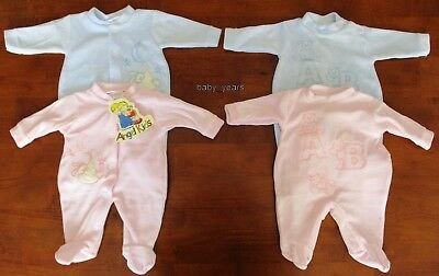 Baby Premature Sleepsuit Babygrow Velour Sleeper Boys Girls Tiny Prem Clothes