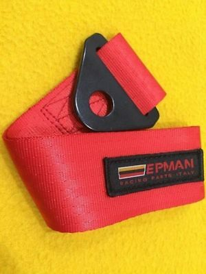 Tow strap hook point CAMS regulations compliant RED 250 mm long race