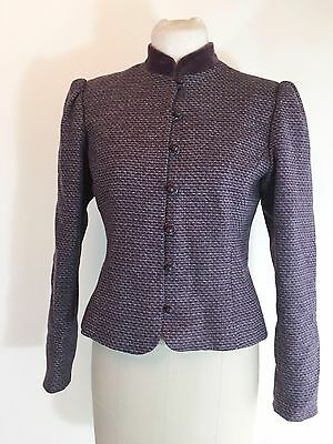VTG Brooks Brothers Purple Tweed Jacket Blazer 1960s Victorian Style Steampunk
