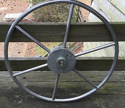 Authentic Vintage Maritime Marine Hd Stainless Steel Ship's Wheel, 30 1/2""