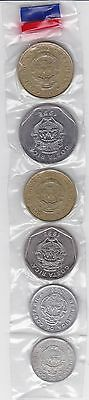 Costa Rica 1992 to  2008 Set 5 to 50 Colones 6 coins LOOK