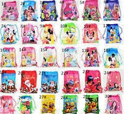 NEW Kids Boys Girls Drawstring Gym Toy Swimming Beach PE School Party Book Bag