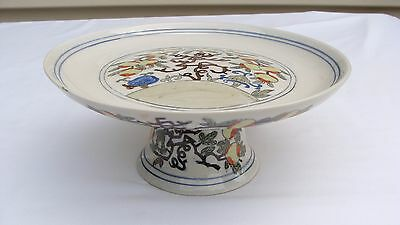 Early 20Th Century Chinese Export Porcelain Pedestal Dish #28