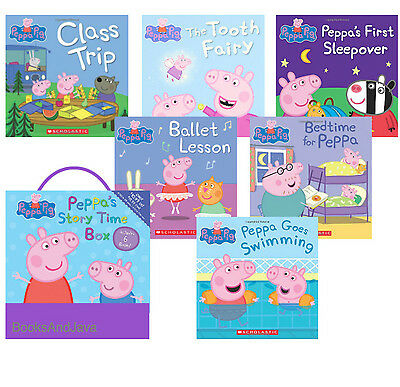 Peppa Pig Peppa's Storytime Box Set Bedtime,Class Trip,Tooth Fairy,Sleepover 6Bk