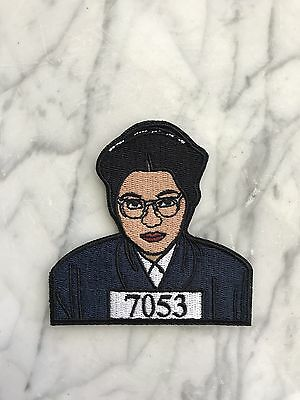 Rosa Parks Patch - Black History, Civil Rights Movement, Embroidered, Iron-On