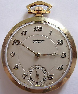 dc9487401 TISSOT GOLD PLATED Pocket Watch 781-1 Running With Box 17J Very ...