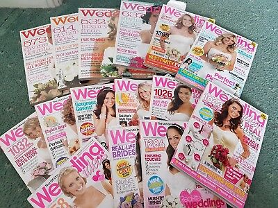 15 Wedding  Magazines Wessing ideas Used 2007 - 2009 Collection only DA15 Kent