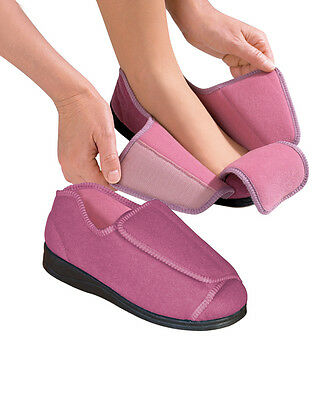 Womens Extra Wide Adaptive Deep Diabetic & Edema Slippers bySilvert's,Sizes 6-12
