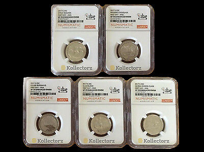 2017 S 225Th Enhanced Uncirculated U.s.10Coin Set Ngc Sp70 Ana Label