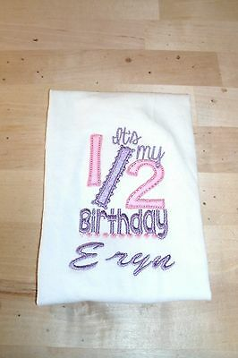 My 1/2 Birthday 6 month half Style Personalized Shirt