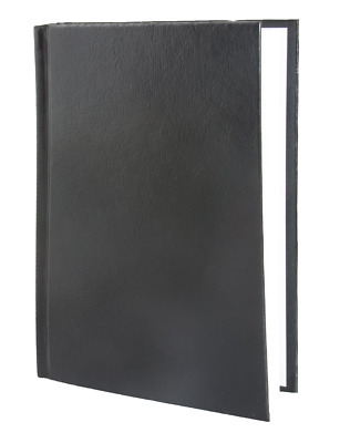 Blank Hardbound Hardcover Executive Notebook Embossed Leather Journal Black New