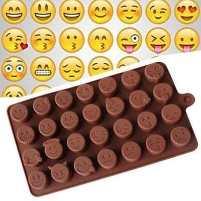 Emoji Silicone Mold Chocolate Candy Ice Cube Cake Fondant Soap Mould Baking DIY
