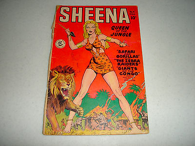 Sheena, Queen of the Jungle #4 (Fall 1948, Fiction House) Missing Back Cover