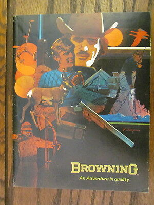 Vintage Original 1974 Browning Firearms and Fishing catalog Authentic