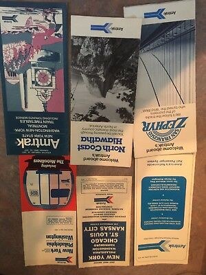 BIG Lot Of Vintage AMTRAK Rail National And Regional Timetables 1970s