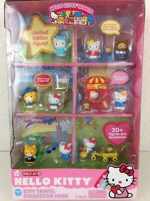 Target Exclusive HELLO KITTY Collectable City Travel Collector Pack 21 pieces