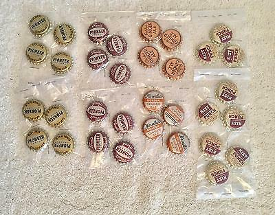 Vintage Retro Corked Lined Brand New Bottle Caps 1960S Lot Of 33 • $14.99