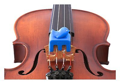 NEW Otto Musica Artino weighted blue bird violin viola practice mute 4/4 size