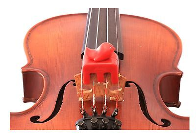 NEW Otto Musica Artino weighted red bird violin viola practice mute 4/4 size