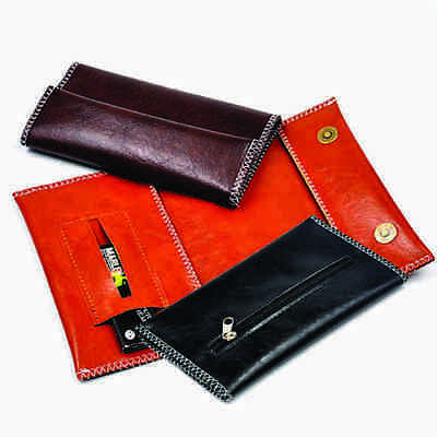 Tobacco Pouch In Black  - Pu Leather - Brown & Tan Available In Our Store
