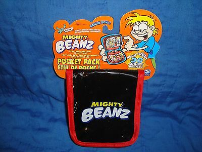 Mighty Beanz Beans Black & Red Pocket Pack Travel Case 2002 moose