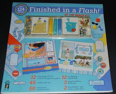 "HOTP 5280 - Finished in a Flash -At the Beach-""12 x 12 Scrapbooking Kit -124 Pcs"