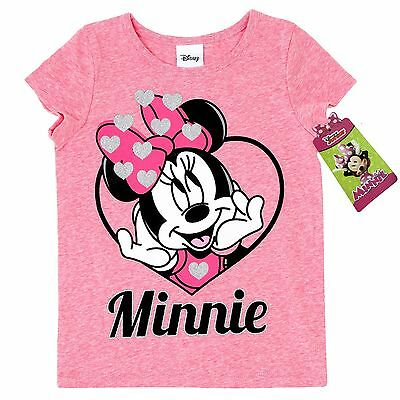Nwt Disney Minnie Mouse Pink Heart Shirt Top Size 2T
