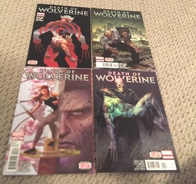 Death Of Wolverine 1-4 NM Only Read Once Foil Covers X-Men First Prints