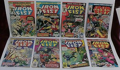 Iron Fist Lot of 14 - 1,2,3,4,5,6,7,8,9,10,11,12,13, Marvel Premiere 25 - VG/F