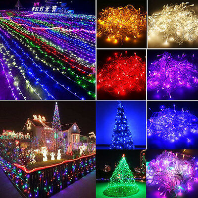 10m 20m 30m 50m 100m Christmas String Fairy Lights In/Outdoor Xmas Home Party