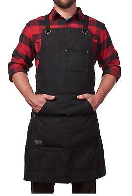 Hudson Durable Goods - Heavy Duty Waxed Canvas Work Apron with Tool Pockets...
