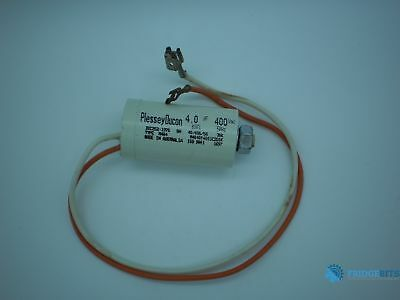 PlesseyDucon 6133 400VAC 4uF 50hZ M404 capacitor without wiring sheath