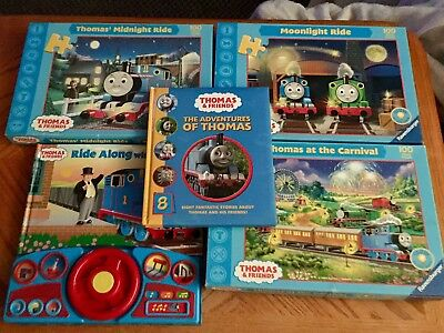 3 Thomas The Train 2005 Ravensburger Puzzles 2 Books Vintage Lot & Friends
