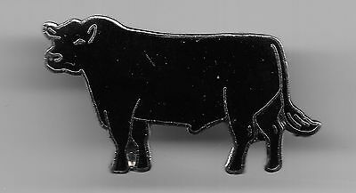 Vintage Black Angus Cattle old cloisonne pin