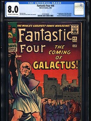 1966 Fantastic Four #48 Cgc 8.0 Vf 1St Appearance Of Silver Surfer & Galactus