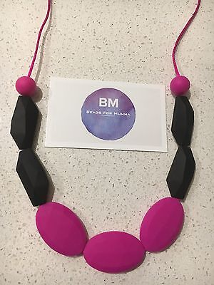 Silicone Necklace for Mum Jewellery Beads Aus Gift Breast Sensory was teething