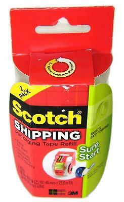 NIB - 3M SCOTCH Packaging Tape Refills EASY GRIP - 2-pack - 2 Rolls Total  HM1