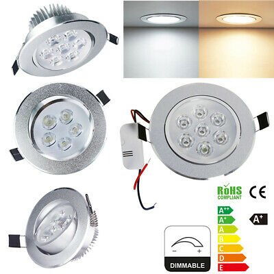 4x8x Dimmable 3/5/7W LED Spot Encastrable Plafond Plafonnier éclairage Ampoule