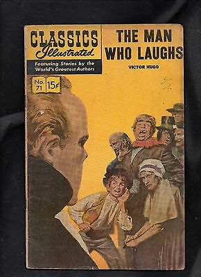 Classics Illustrated #71 G   Hrn167 (The Man Who Laughs) Victor Hugo