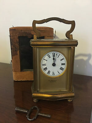 LATE 19TH CENTURY FRENCH CHAMPLEVE CARRIAGE Clock R Stewart Glasgow