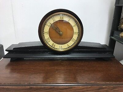 Antique Art Deco Russian Made In USSR 11 Jewel Mantle Clock