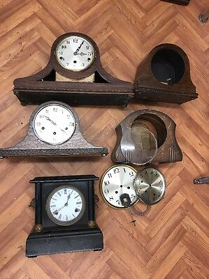 Antique Collection Of Clocks And Parts For Spares & Repairs