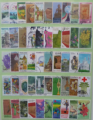 THAILAND STAMP COLLECTION PACKET of 50 DIFFERENT LARGE SIZE STAMPS USED (Lot 2)
